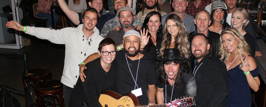 2. Musos 4 Mates @ The Dock Mooloolaba - some of the performing musicians & organisers with Cheryl-crop-web