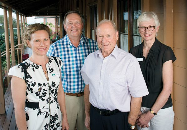 New Buderim Foundation Directors Amber James, Geoff Sawyer, new Chair Dr Russell Stitz and Jan Nelson