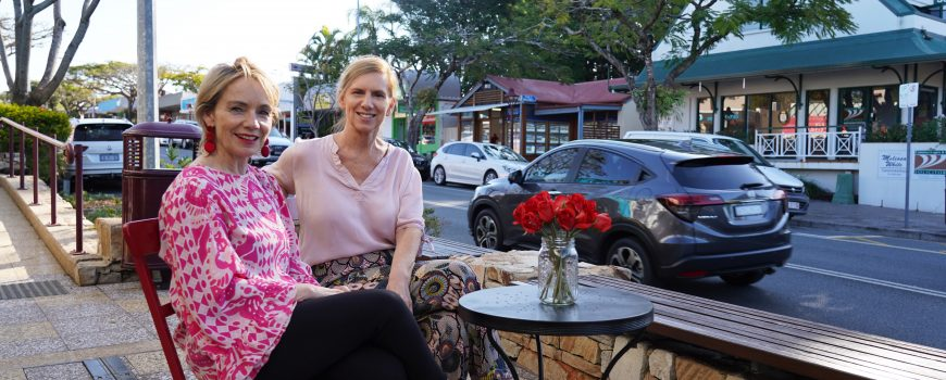 BF Colours of a Buderim Summer fashion boutique owners Nikki Miller from Segwick's and Suzanne Mailey from Gingers