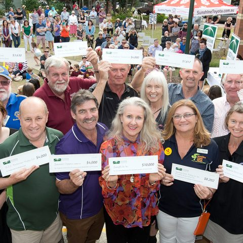Buderim Foundation celebrates 10 years of giving with a celebration of more than $64,000 in grants