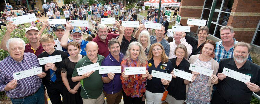 Buderim Foundation 2017 Community Grant recipients - photo by Ross Eason-web