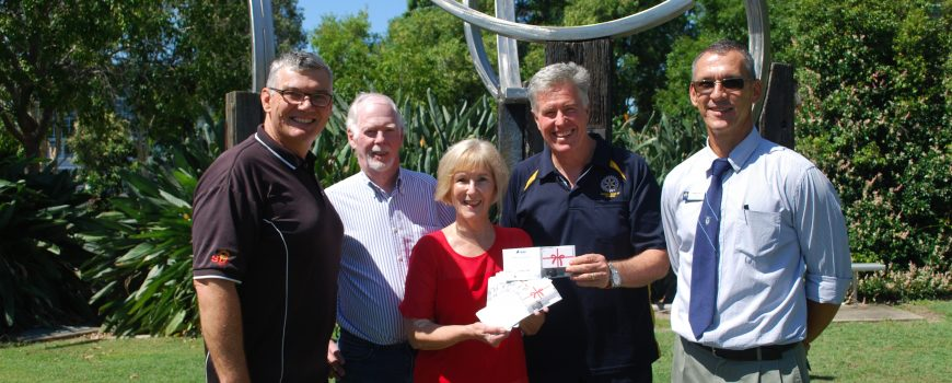 Buderim Foundation school vouchers 1 - Shane Brigg, Brian McBride, Roz Bull, Lloyd Edwards & Jayme Field