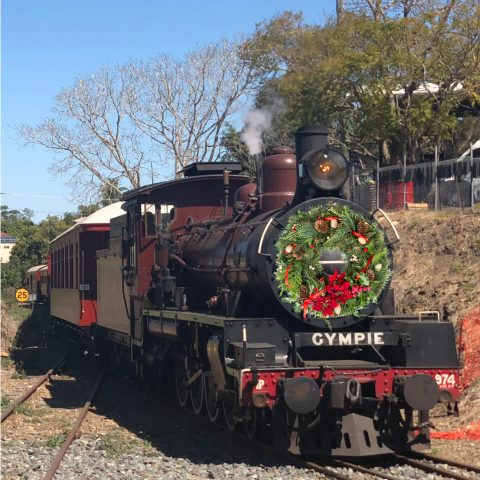 All aboard the Mary Valley Rattler Christmas Train