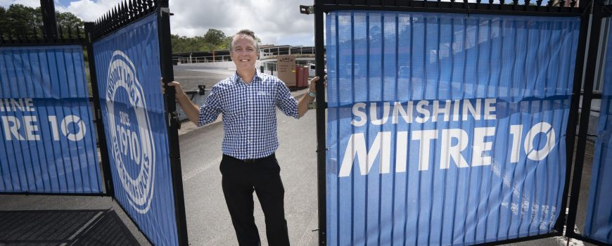 Sunshine Mitre 10 general manager Neil Hutchins is looking forward to the openning of the new flagship store at Nambour later this year