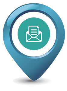 Teal icon - email