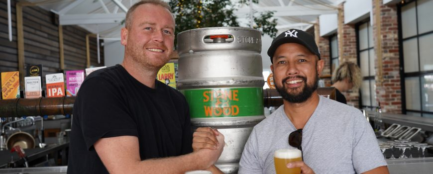 The Dock Mooloolaba owner Jared Hart & Musician John Veloso launching Musos for Mates