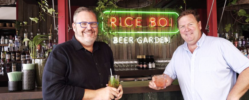 Tony Kelly and Dirk Long at Rice Boi Beer Garden